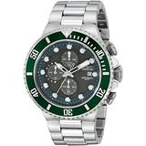 Invicta Pro Diver Chronograph Gunmetal Dial Stainless Steel Mens Watch 18908