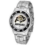 "Colorado Golden Buffaloes NCAA ""Competitor"" Mens Watch (Metal Band)"