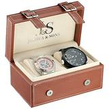 Joshua & Sons Men's JS-46-03 Black Quartz Watch Set