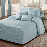 Silk Allure Grande Bedspread Sterling Blue, Queen, Sterling Blue