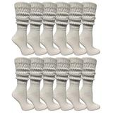 Yacht & Smith EXTRA THICK Slouch Socks for Women, Extra Heavy Slouchy Ladies Cotton Crew Boot Socks