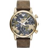 Watch Armani Steel Green Brown Man