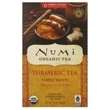 Numi Organic Three Roots Turmeric Tea - 12 bags per pack -- 6 packs per case.