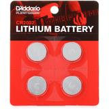 D'Addario CR2032 Lithium Button Cell Battery (4-pack)