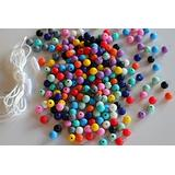 Silicone Beads - 9mm 250PC Round Beads by Blue Rabbit Co, Adult Craft Kits, Jewelry Making Kit, Multi-Colored Beads for Necklaces, Bracelets (Original, 250PC)