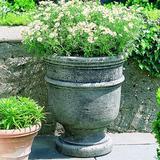 Campania International St Remy Cast Stone Urn Planter Concrete in Gray, Size 22.0 H x 18.5 W x 18.5 D in | Wayfair P-326-GS