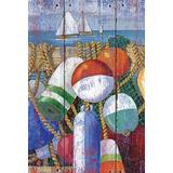 """Toland Home Garden 1010000 Rustic Floats and Boats 28 x 40 Inch Decorative, House Flag (28"""" x 40"""")"""