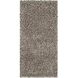 SAFAVIEH Milan Shag Collection SG180 Solid Non-Shedding Living Room Bedroom Dining Room Entryway Plush 2-inch Thick Accent Rug, 2' x 4', Grey