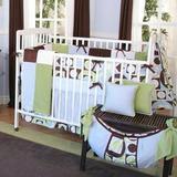 "Brandee Danielle Modern Baby 4 Piece Crib Bedding Set, Cotton Blend in Blue/Green/Brown, Size 22""H X 52""W X 30""D   Wayfair 175-4PMBB"