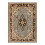 Well Woven Barclay Medallion Kashan Traditional Persian Floral Plush Area Rug, Blue, 8X10 Ft