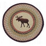 Earth Rugs Moose Printed Area Rug Jute & Sisal in Brown/Red/White, Size 27.0 H x 27.0 W x 0.25 D in   Wayfair 66-019M