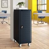 Luxor 12-Compartment Tablet Charging Cart Metal in Black, Size 40.0 H x 14.0 W x 25.0 D in | Wayfair LLTP12-B