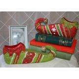 """Worth Imports Elf Shoes, Metal in Green, Size 2""""H X 12""""W X 2""""D 
