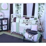 Brandee Danielle Modern Baby Girl Fitted Crib Sheet Cotton Blend, Size 6.0 H x 30.0 W x 52.0 D in   Wayfair 176-SHMBG