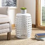 Safavieh Lacey Glazed Ceramic Decorative Garden Stool, White