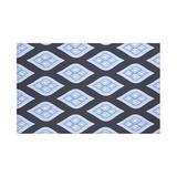 e by design Tail Feathers Blankets & Throws Polyester/Fleece & Microfiber in Blue, Size 60.0 W in | Wayfair HGN217BL14BL17-50x60