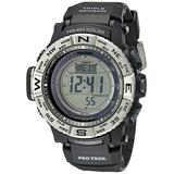 Casio Men's PRO TREK Quartz Watch with Resin Strap, Black, 26 (Model: PRW-3500-1CR)