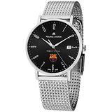 Maurice Lacroix Eliros FCBarcelona Men's Stainless Steel Black Dial Swiss Made Watch EL1087-SS002-320