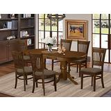 7 Pc Dining room set Table with Leaf and 6 Dining Chairs