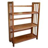 """Casual Home 3-Shelf Folding Stackable Bookcase 27.5"""" Wide"""