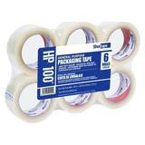 SHURTAPE HP 100 Carton Sealing Tape,Clear,PK6