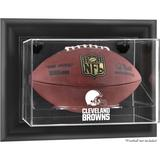 Cleveland Browns Black Framed Wall-Mountable Football Display Case