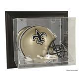 New Orleans Saints Black Framed Wall-Mountable Helmet Display Case