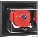 New England Patriots Black Framed Wall-Mountable Cap Logo Display Case