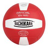 Tachikara Official SV18S Composite Leather Volleyball, Red