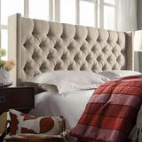 HomeVance Stanford Heights Tufted Wingback Headboard, Brown, Full