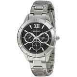 Seiko Black Dial Stainless Steel Mens Watch SKY689P1 by Seiko Watches