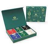 VAHDAM, Single Serve, Tea Gift Set, 6 TEAS, Long Leaf Pyramid Tea Bags, 24 SERVINGS - Black Tea, Green Tea, Oolong Tea, Chai Tea, Herbal Tea - Finest Tea Gift Box