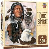 MasterPieces Tribal Spirit 550 Puzzles Collection - One Spirit 550 Piece Jigsaw Puzzle