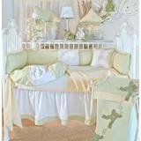 Brandee Danielle Froggy 4 Piece Crib Bedding Set Cotton Blend in Yellow, Size 35.0 W in | Wayfair 1284PFGY