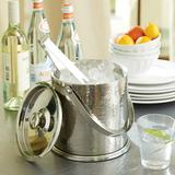 Avalon Double Walled Ice Bucket with Tongs - Ballard Designs