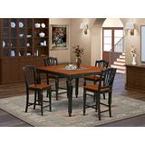5 Pc counter height Dining set-Square Counter height Table and 4 Stools