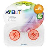 Avent Soothers Translucent 6-18mths+ (2)