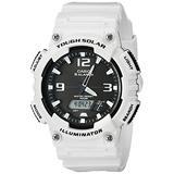 Casio Men's AQ-S810WC-7AVCF Analog-Digital Display Quartz White Watch, White/Black