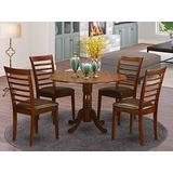 5 Pc small Kitchen Table and Chairs set-small Kitchen Table and 4 Dining Chairs