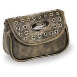 MILWAUKEE'S MP8830-BKBGE-PCS Black/Beige Women's Small Studded Shoulder Bag