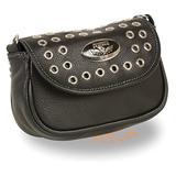 MILWAUKEE'S MP8830-BLK-PCS Women's Black Small Studded Shoulder Bag