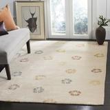 Martha Stewart Rugs Martha Stewart Floral Handmade Tufted Beige Area Rug Viscose/Wool in Brown/White, Size 66.0 W x 0.63 D in | Wayfair MSR3267A-6