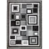 Persian-rugs Royal Geometric Gray Area RugPolyester in Brown/Gray, Size 132.0 H x 96.0 W x 0.75 D in   Wayfair 9332 Gray 8x11