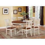 7 Pc Dining set-Oval Table with leaf and 6 Dining Chairs