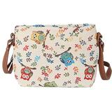 Signare Tapestry Crossbody Purse Small Shoulder Bag for Women with Owl Design (XB02-OWL)
