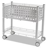 Vertiflex VF52000 Smartworx File Cart, One-Shelf, 28 1/4w x 13 3/4d x 27 3/8h, Matte Gray
