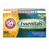 """Arm & Hammer Essentials Dryer Sheets, Mountain Rain, 6 Boxes (Cdc3320000102)"""