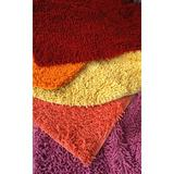 Tache Home Fashion Shag Cotton Area Rug Cotton in Red, Size 108.0 H x 72.0 W x 3.0 D in   Wayfair MAT72108R