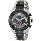 Akribos XXIV Men's Multifunction Watch - 3 Multifunction Subdials feature Date, Day and Dual Time Zone On Stainless Steel Bracelet - AK832