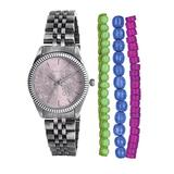 Kahuna Women's Quartz Watch with Pink Dial Analogue Display and Silver Bracelet KLB-0035LSTK